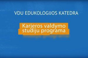 Karjeros valdymo studiju programa